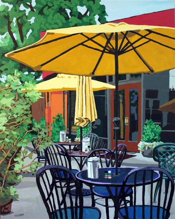 Empire Cafe  (30x24) by Melinda Patrick, acrylic painting