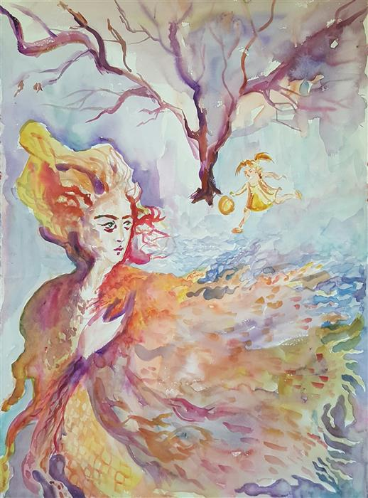 Odessa Tree (30x22) by Mariya Mildovidova, watercolor