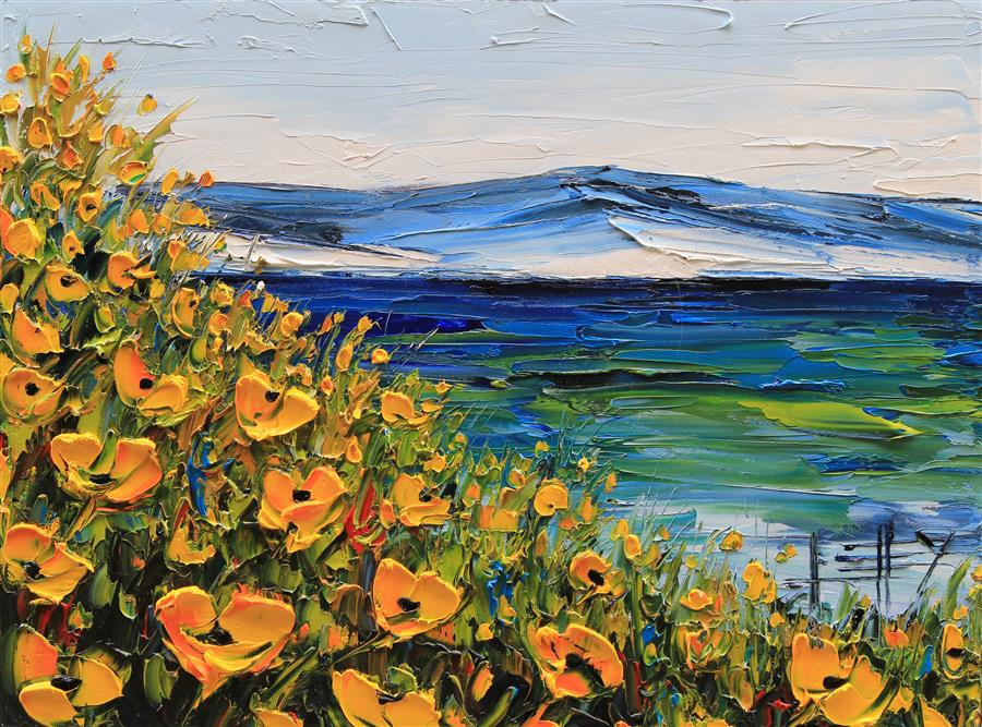 "Forever Monterey  (16"" x 20"") by Lisa Elley, oil painting from the series  California Love"