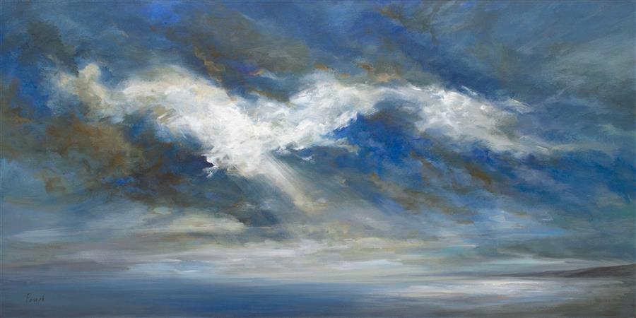 "Rhapsody in Light  (24"" x 48"") by Sheila Finch, acrylic painting from series  Wind, Water and Light"