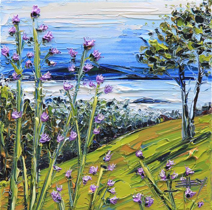 """Berkeley Hills (10"""" x 10"""") by Lisa Elley, oil painting"""