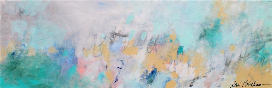 "Morning Dew  (12"" x 36"") by Kerri Blackman, acrylic painting"
