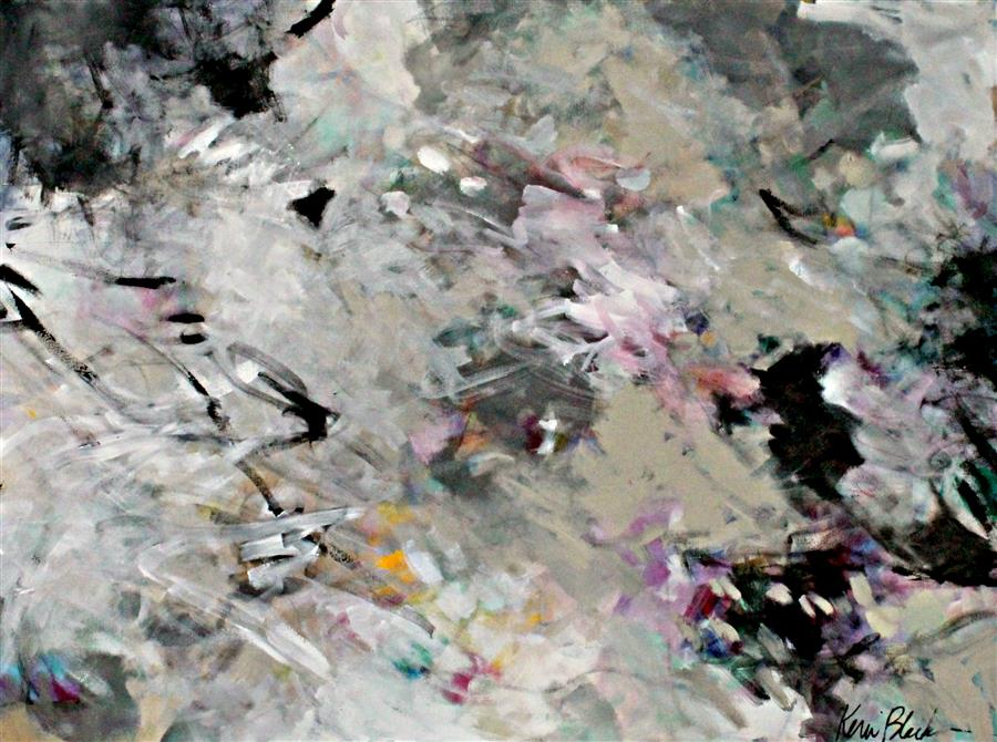 "North Wind Kiss (30""x 40"") by Kerri Blackman, acrylic painting"