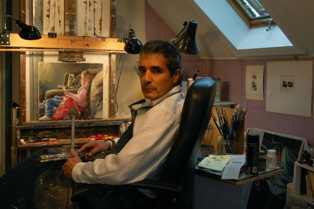 Onelio Marrero in his studio