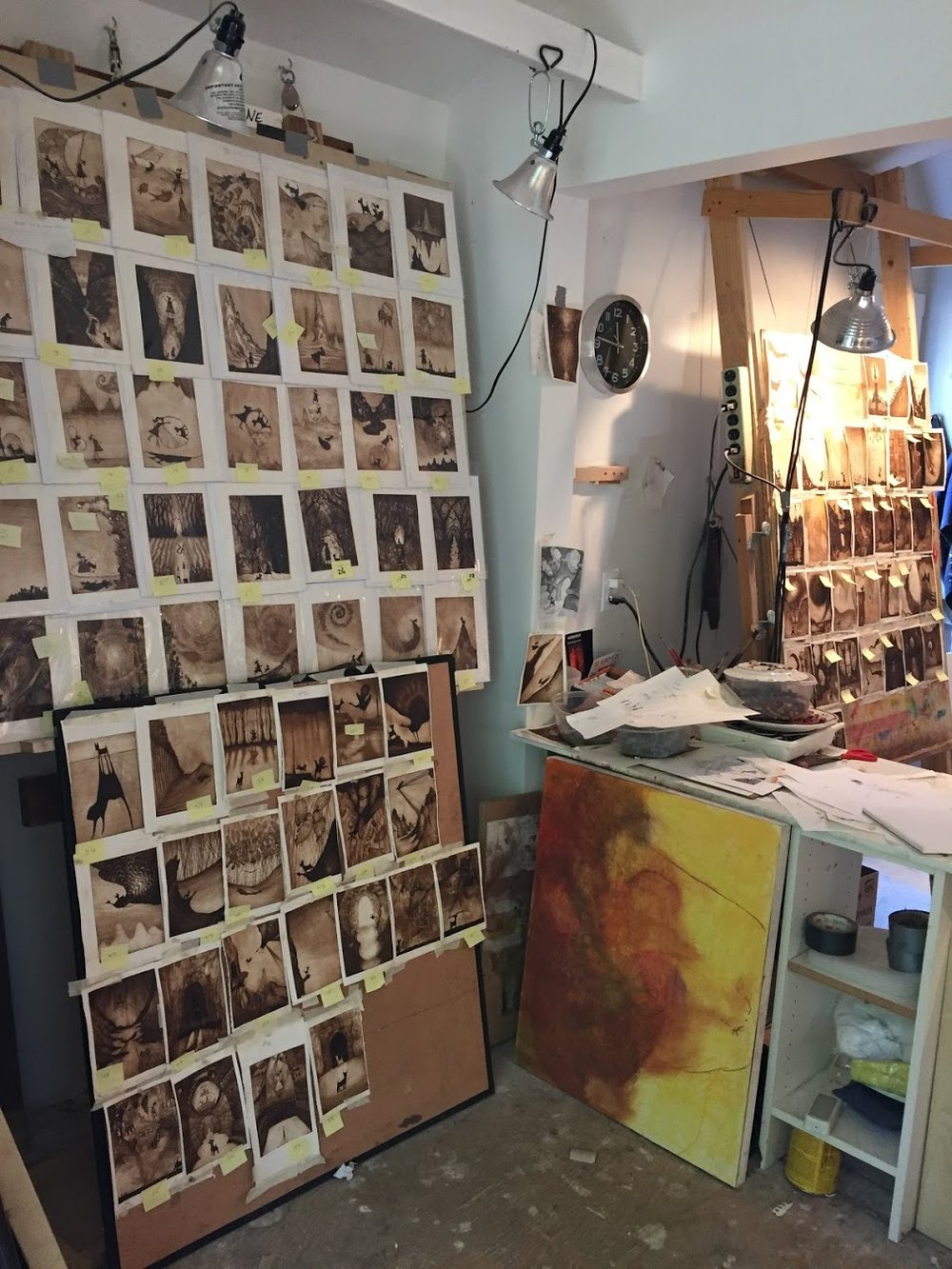 A look inside Doug's studio.