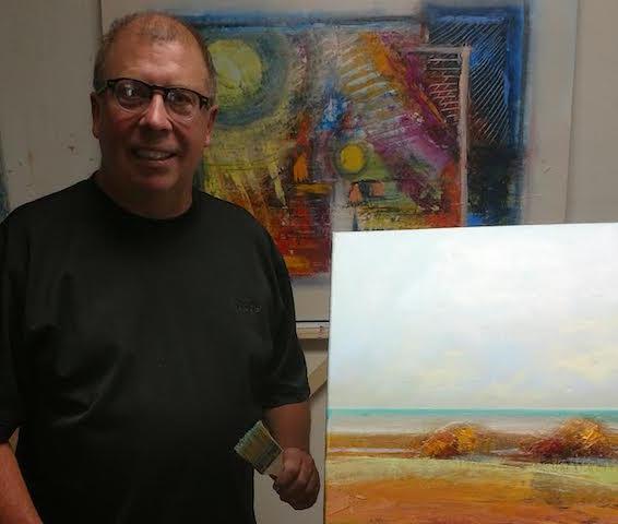 George Peebles in his studio