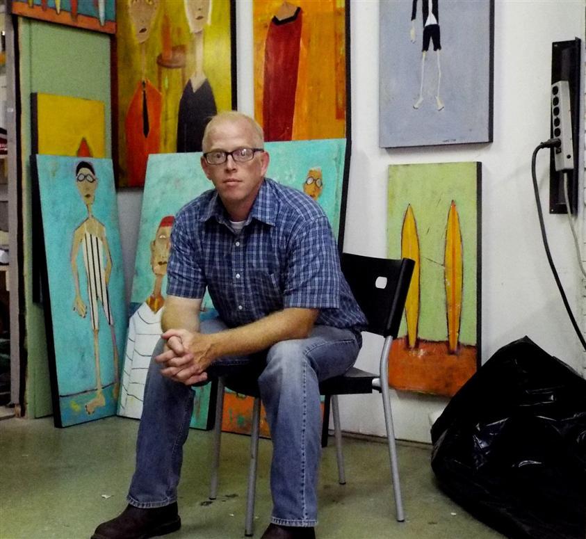 Rick Hamilton in his studio.