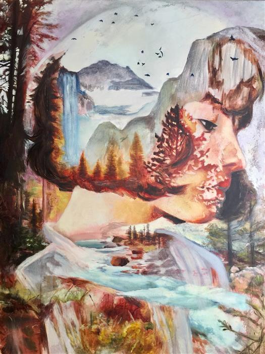 "Diamonds (40"" x 30"") by Miranda Gamel, oil painting"