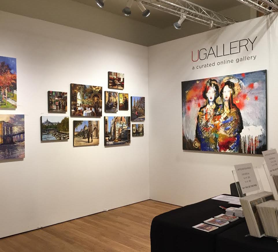 The UGallery booth at the 2015 Affordable Art Fair in NYC