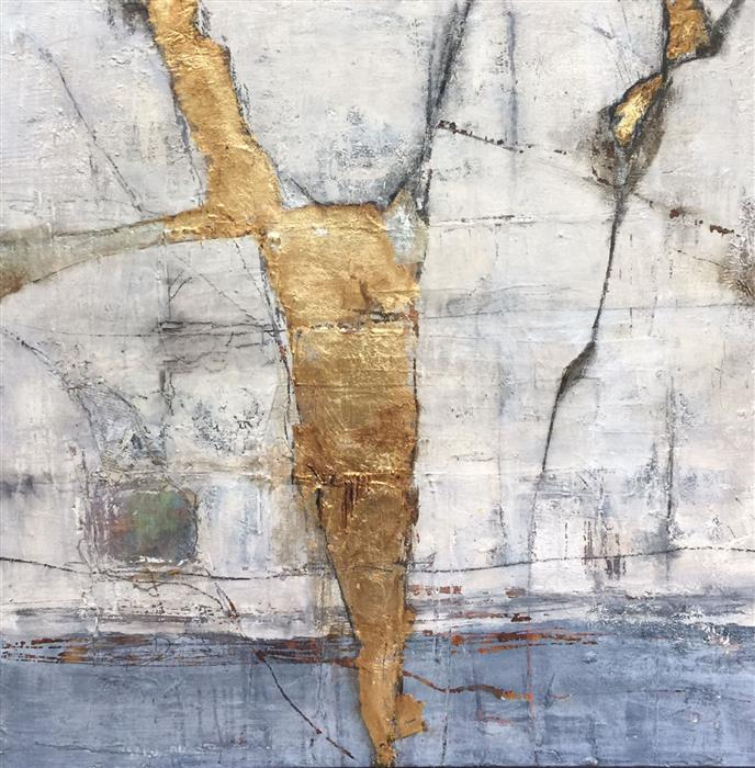 "The Light Within: Sanctuary (36"" x 36"") by Maya Malioutina, mixed media"