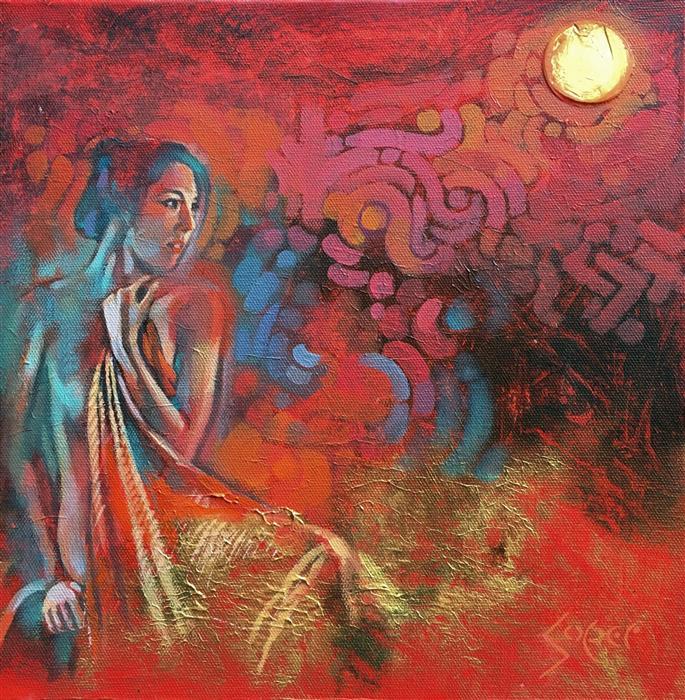"Solaris (12""x 12"") by Patrick Soper, acrylic painting"