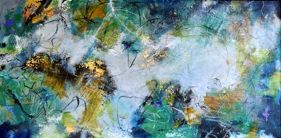 """Overture (24"""" x 48"""")by DL Watson, acrylic painting"""