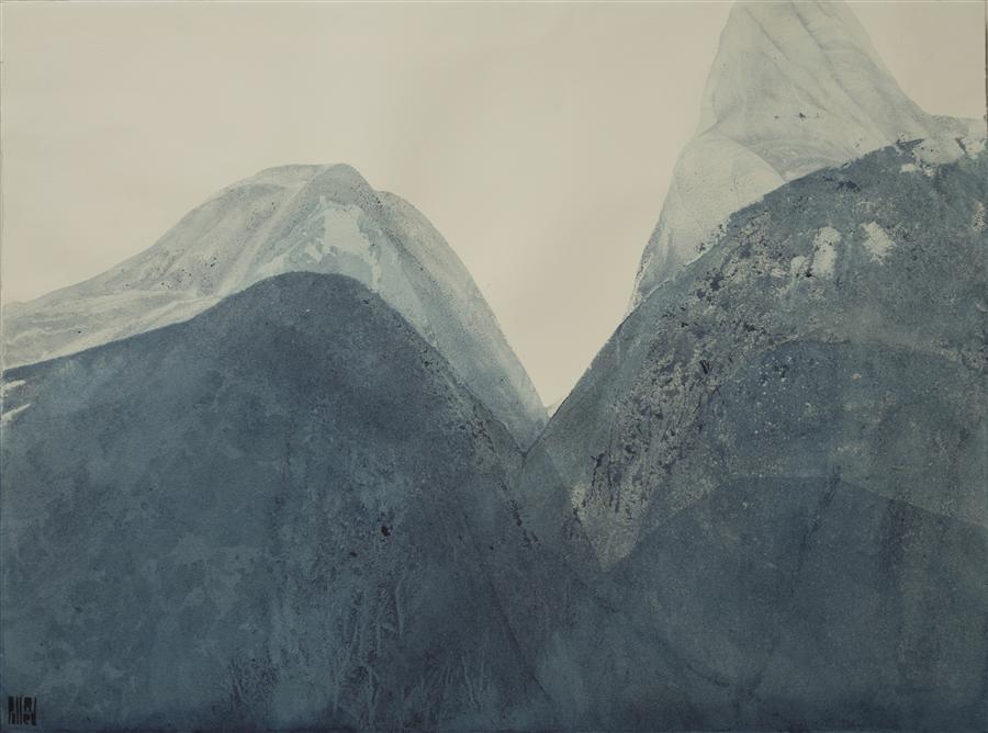 """Indigo 4897  (22"""" x 30"""") by Lynn Pollard, ink on paper"""