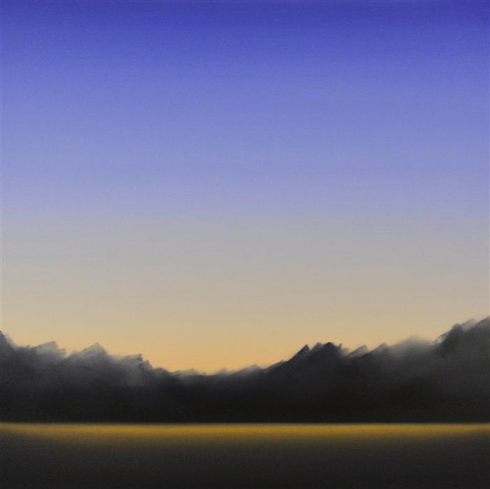 "Clearing 481  (33"" x 33"") by John Diehl, oil painting"
