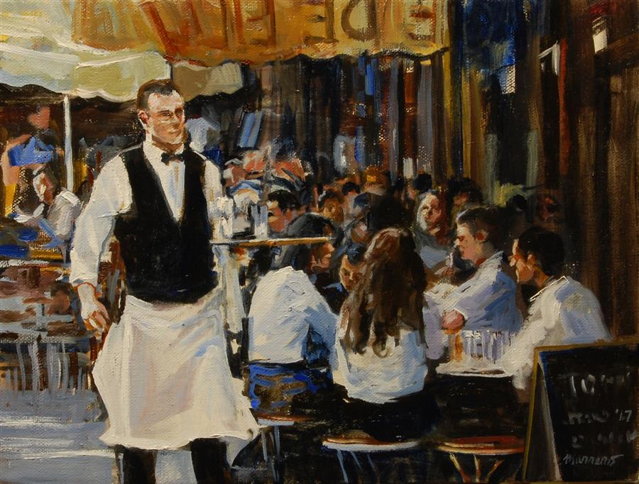 "Al Fresco (9"" x 12"") by Onelio Marrero, oil painting"