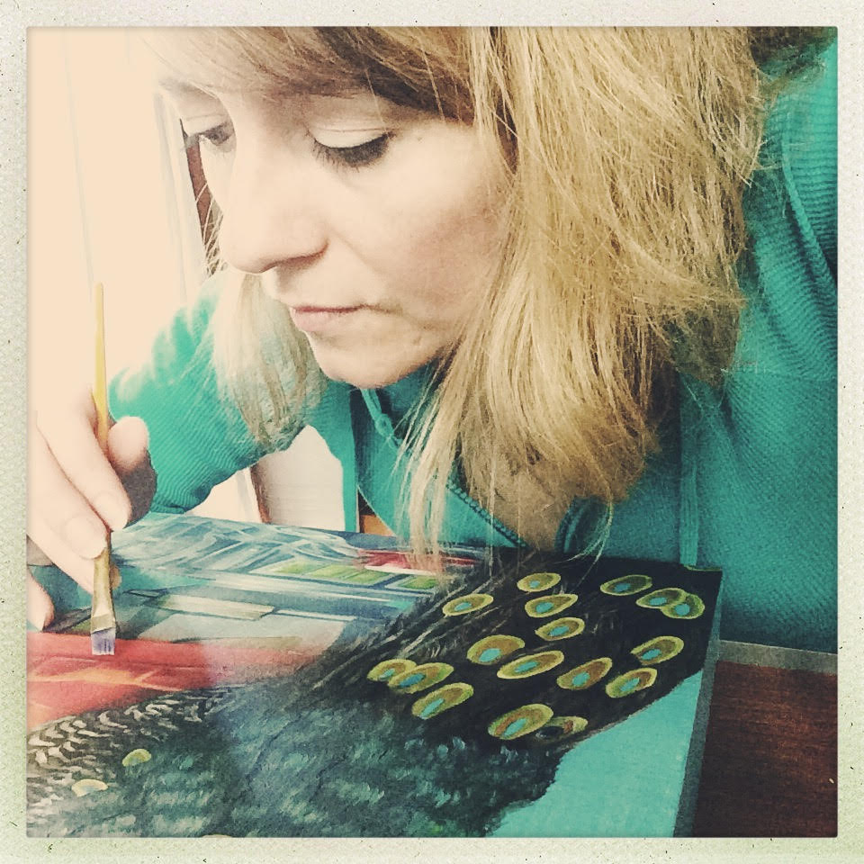 Diane Flick working on Millie's Indulgence