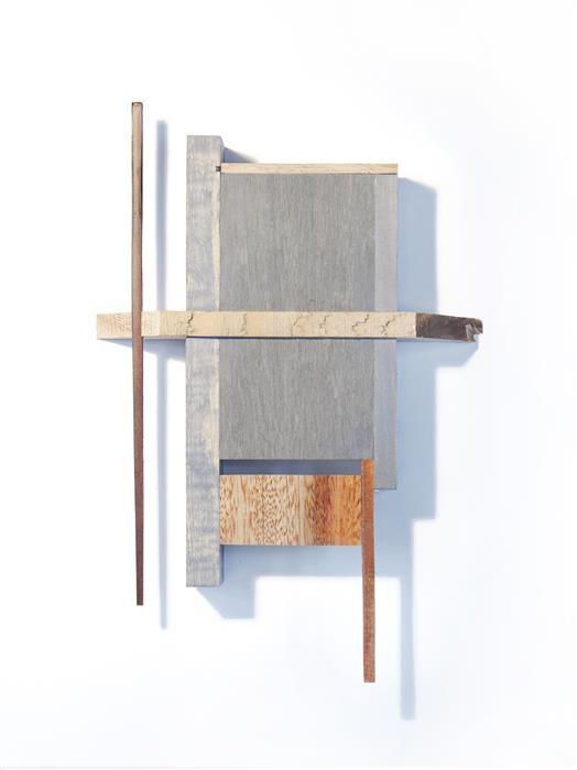 "Programmed  (14"" x 9"") by Ethan Solouki, wood"