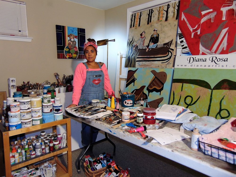 Diana in her studio.
