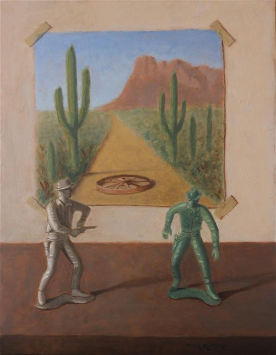 """Deul!  (18"""" x 14"""")  by Jose H. Alvarenga, oil painting"""