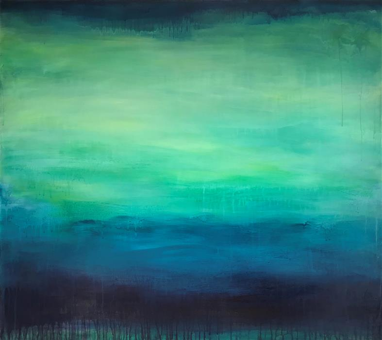 "Night Canopy  (32"" x 36"")by Fran McNamara, acrylic"