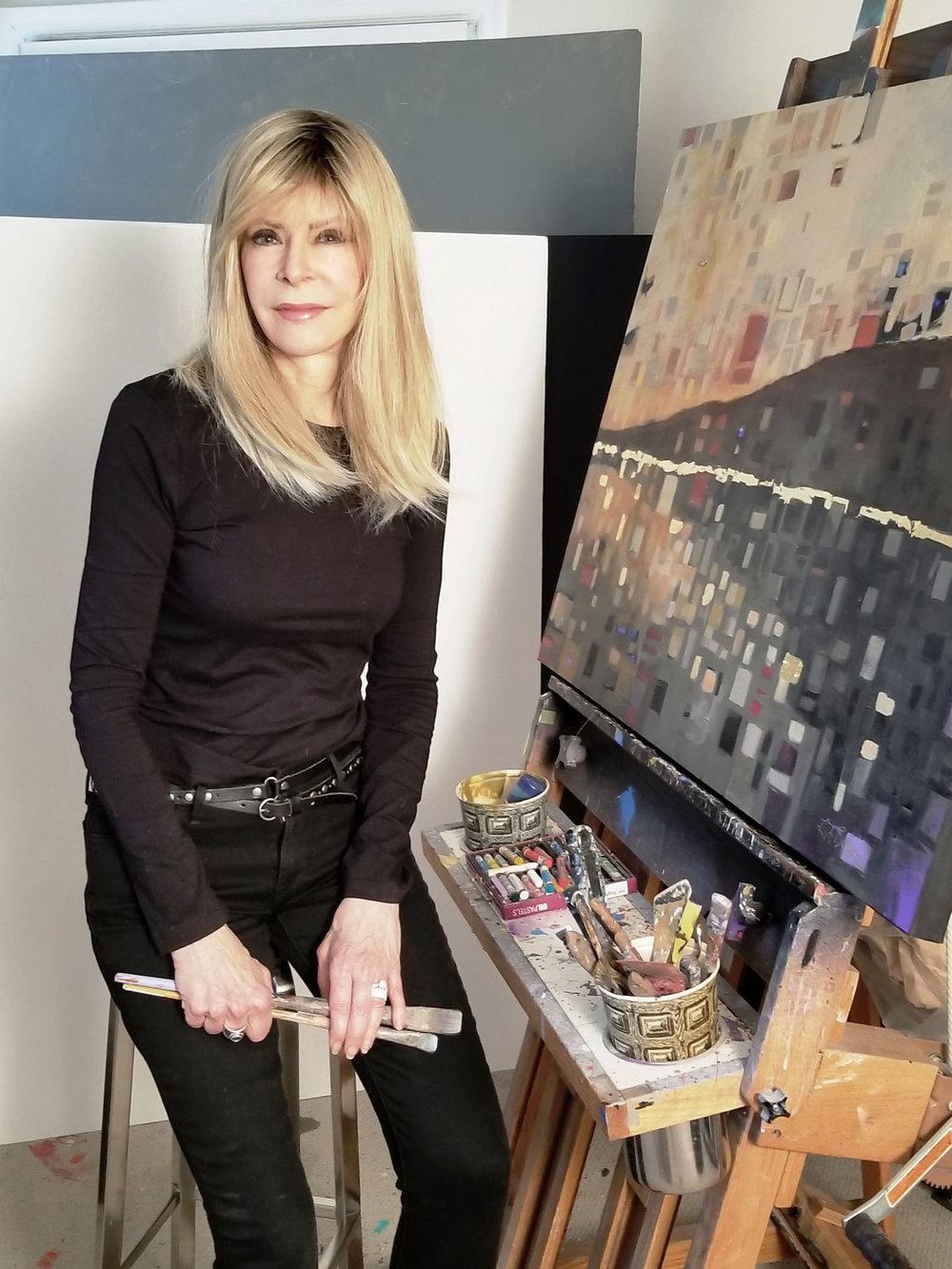 New UGallery artist, Leslie Ann Butler in her studio.
