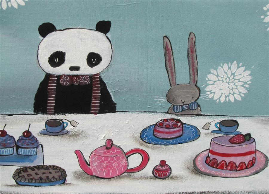 Detail of   A Very Fancy Tea Party