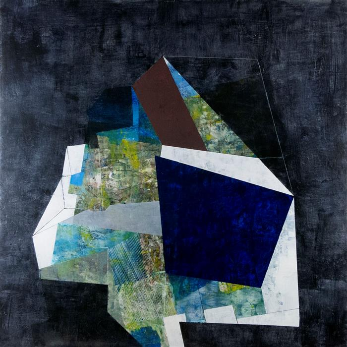"At The Center  (36"" x 36"")  by  Linnie Brown, mixed media artwork"