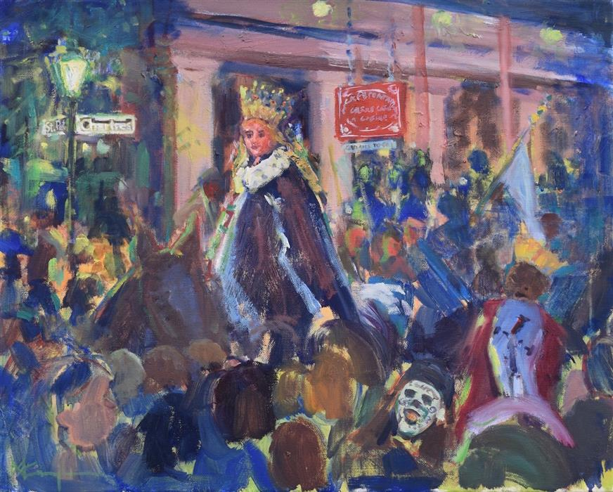 "The Queen of Chartres  (16"" x 20"") by Mickey Cunningham, oil painting"
