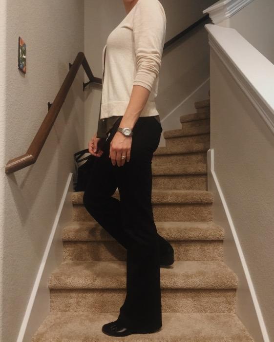 My Betabrand Black Bootcut Yoga Dress pants