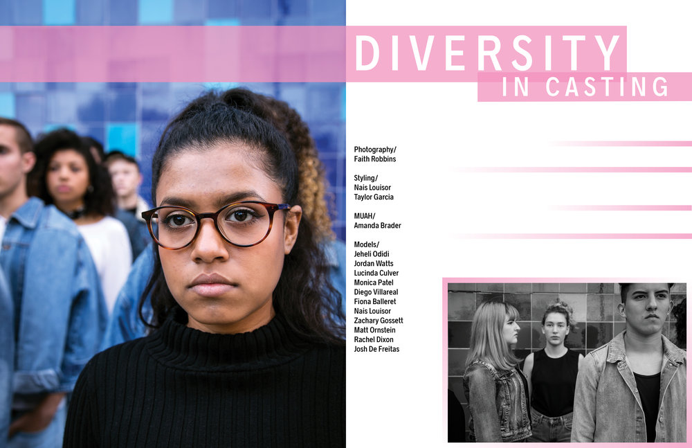 Diversity in Casting - layout design for Cabra Magazine