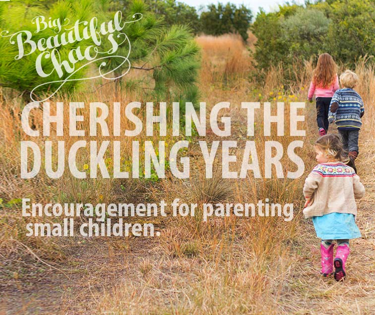 Encouragement for cherishing your time with your small Children.