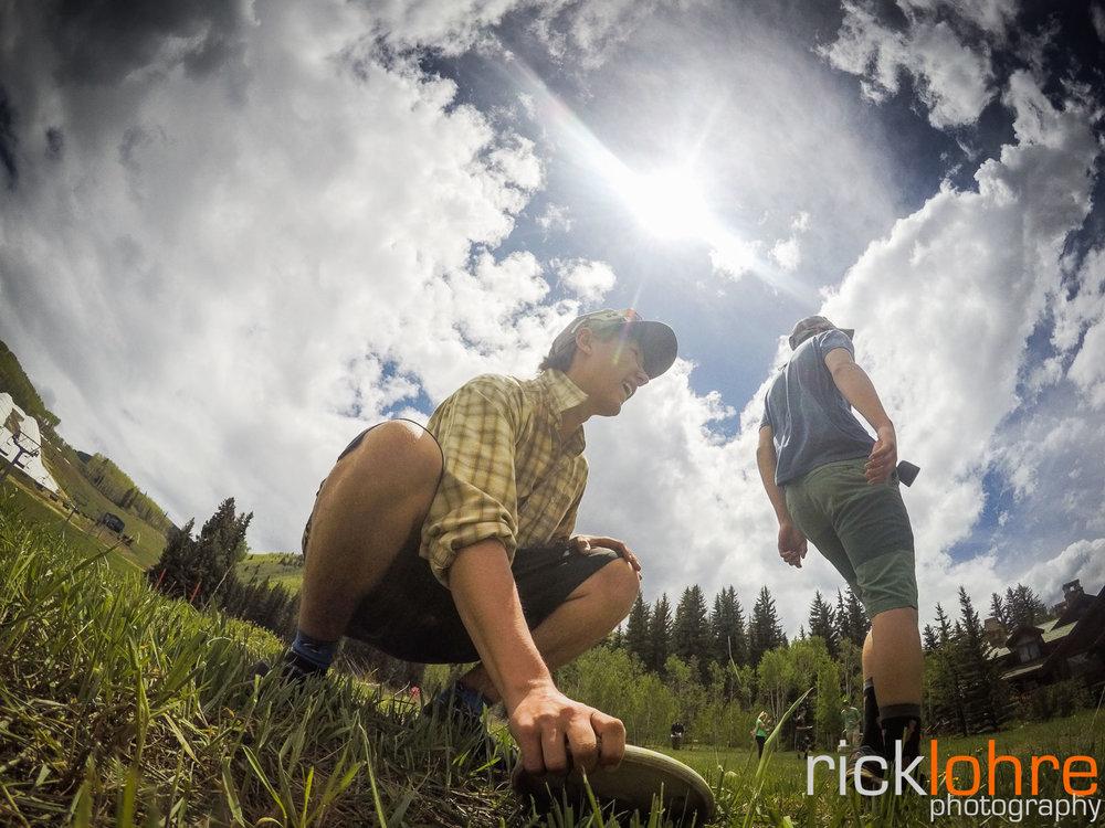 GoPro Frisbee Golf Shot in Colorado