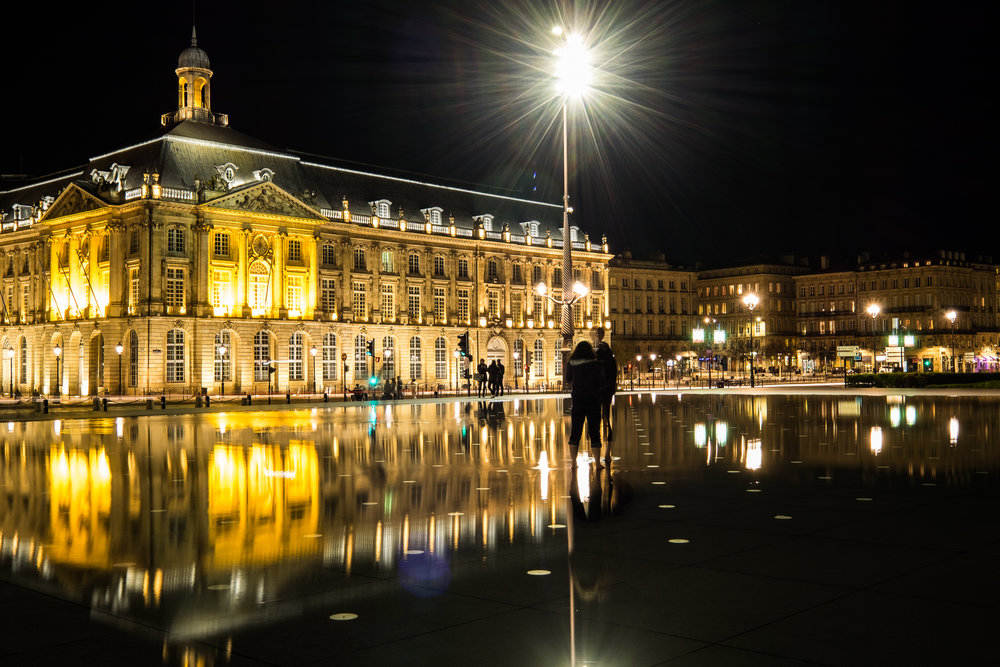 Bordeaux France at night with the Fuji X Series