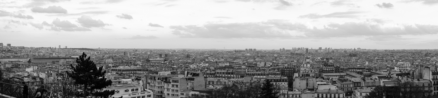 Panoramic view of Paris France from Montemartre
