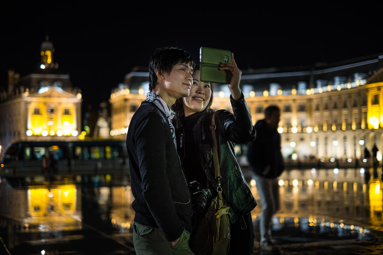 Selfies at Place de la Bourse