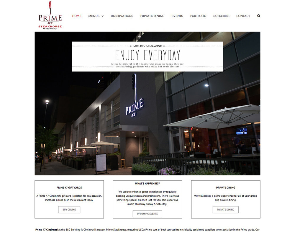 Restaurant Website Photography