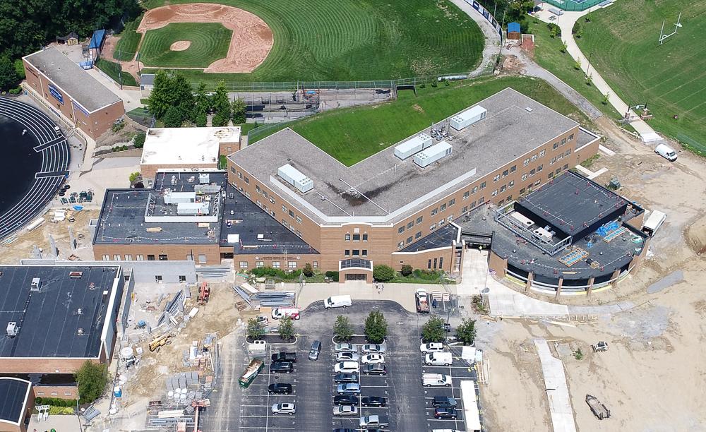 Covington Catholic High School construction aerial photo - Oblique Aerial Photograph