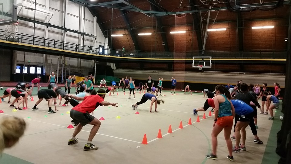 CardioSport demo fitness class at UVM