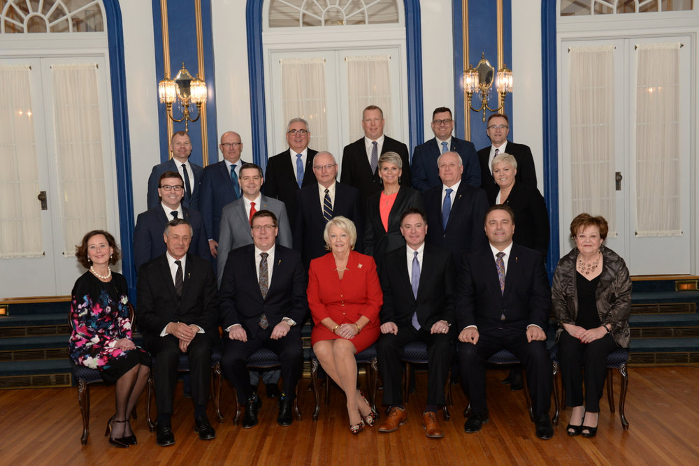 2018 Feb Premier Scott Moe and Cabinet.jpg