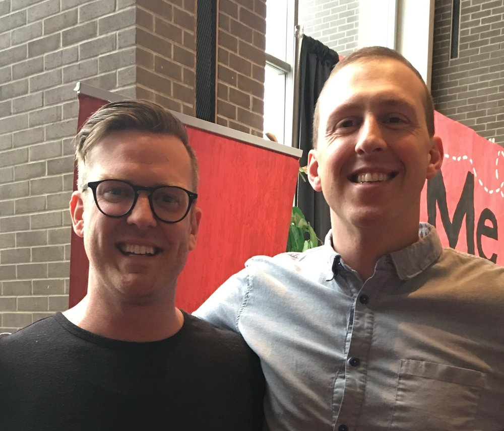 Jim Demeray and Brett Matlock at the 2018 campaign launch: Me to You