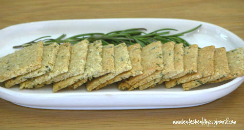 Spicy Rosemary Cashew Crackers