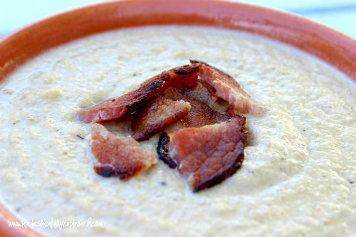 Creamy Roasted Cauliflower and Mushroom Soup