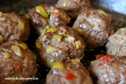 Olive and Garlic Meatballs