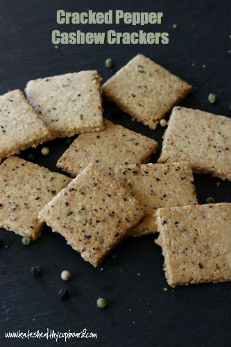 Grain Free Crackered Pepper Cashew Crackers Recipe