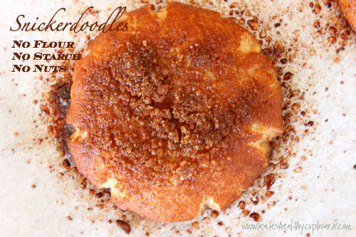 Flourless Nut Free Snickerdoodle Cookies Recipe