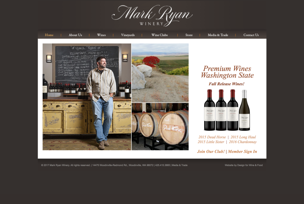 Who we are. Mark Ryan is the parent company to Megan Anne Cellars.