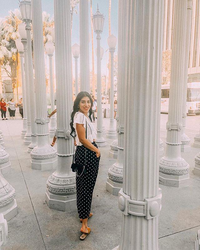 Oh Hi, just bringing you a super touristy picture of LA. 🙃 #lacmalights #losangeles
