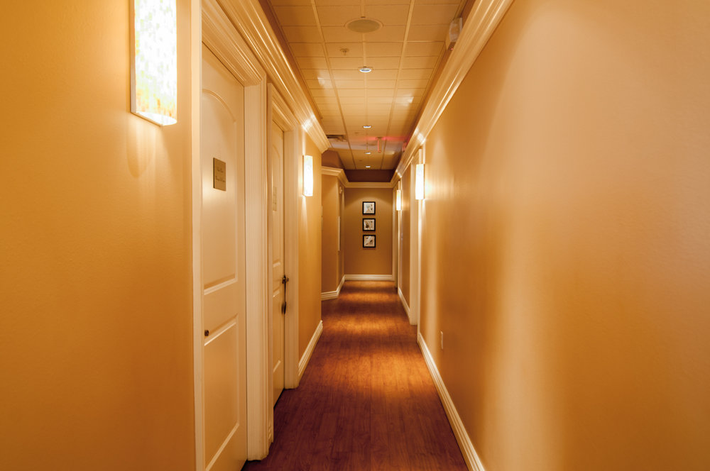 Hallway Massage Rooms Spago Day Spa Medispa Salon Punta Gorda Florida Michael Stampar D.O. DO