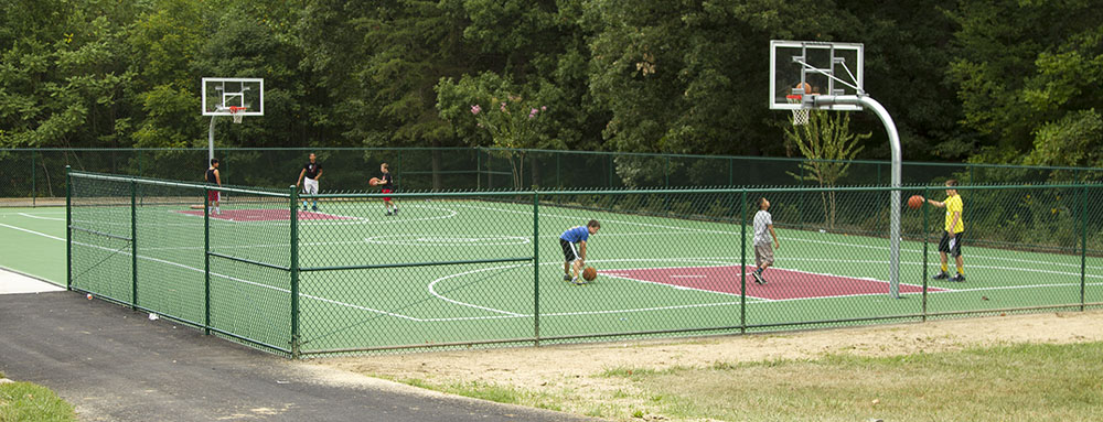 A fully accessible basketball court.