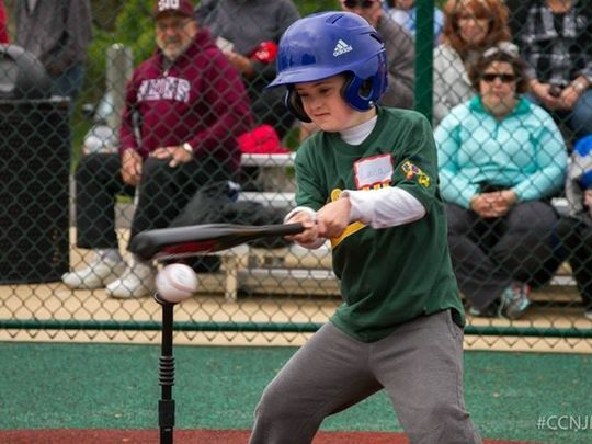 9-year-old Luca Zadeh, Voorhees, plays ball in Camden County NJ Miracle League opener    (Photo: Joseph Nasto/Camden County NJ Miracle League)